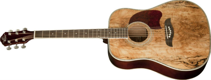 Oscar Schmidt Og2sm Acoustic Guitar Spalted Maple Review on oscar schmidt natural finish