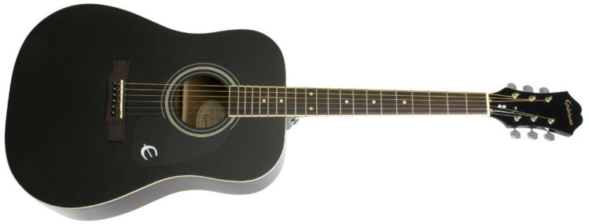 Epiphone DR-100 (Dreadnought), Ebony Review